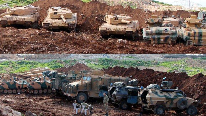 TSK birlikleri Afrin tepelerinde