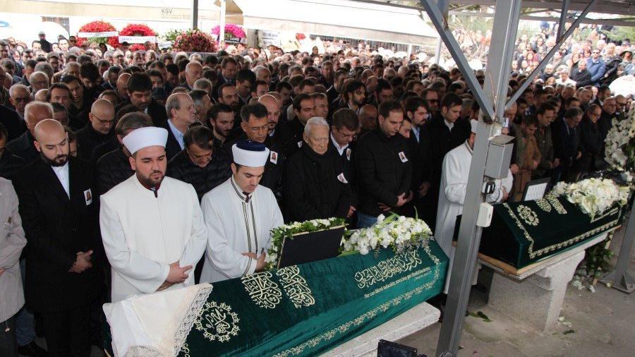 Cenaze törenlerinden görüntüler