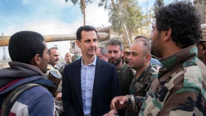 Beşar Esad orada ortaya çıktı