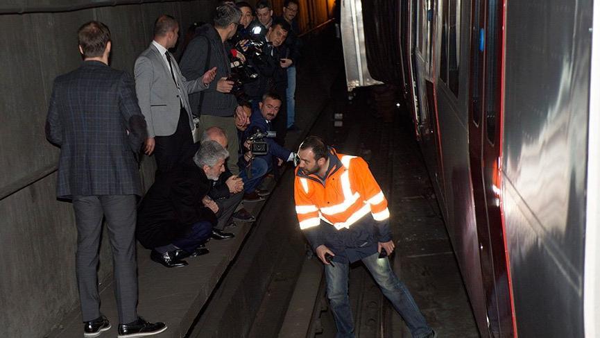 Ankara Büyükşehir Belediye Başkanı Tuna metrodaki kazayı inceledi