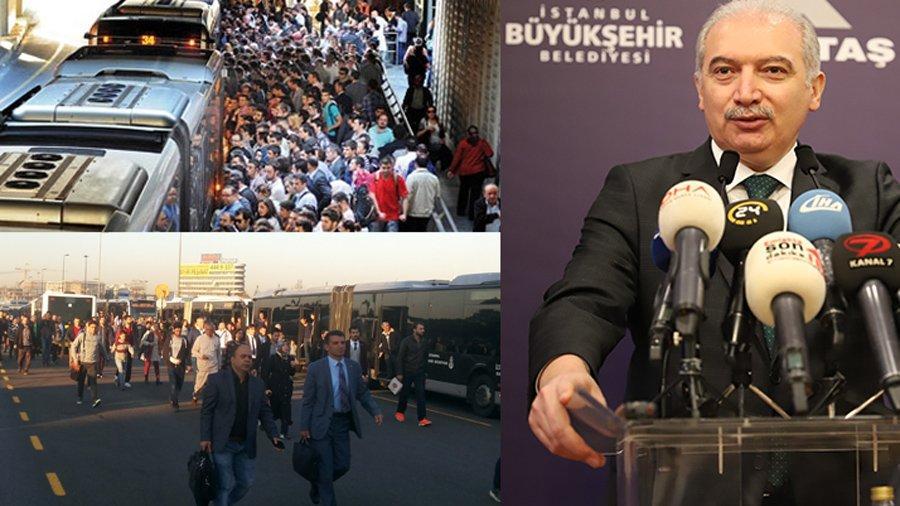 İBB Başkanı Uysal da metrobüsten şikayetçi!