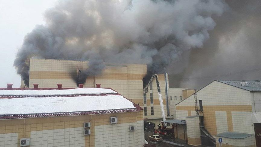 Rusya'da AVM'de yangın! Ölü sayısı artıyor