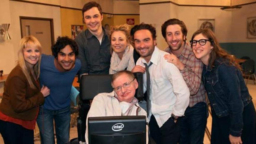 Stephen Hawking, Türkiye'de de yayınlanan dizinin konuğu olmuştu