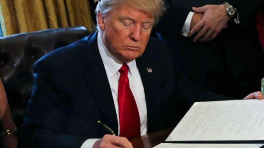Trump'tan 1.3 trilyon dolarlık imza