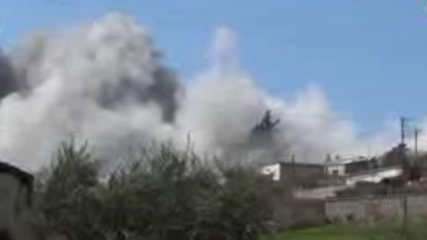 Terörist grubun tespit edildiği evi Türk jetleri böyle bombaladı