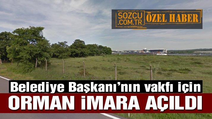 Tuzla Belediye Başkanı'nın vakfı için orman imara açıldı