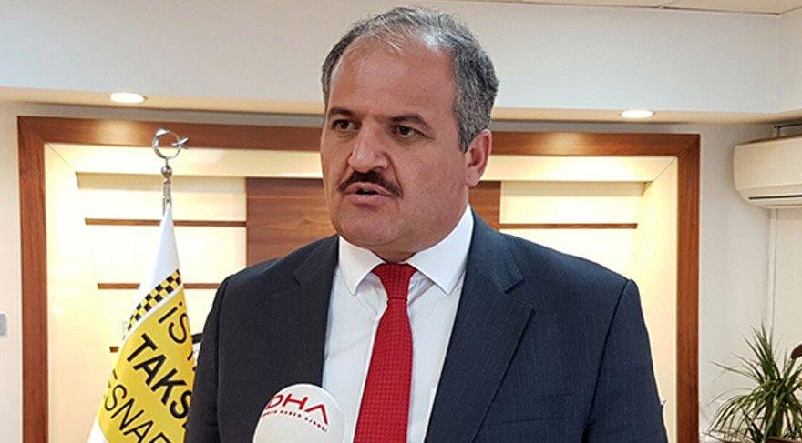 İstanbul Taksiciler Esnaf Odası Başkanı Eyüp Aksu.