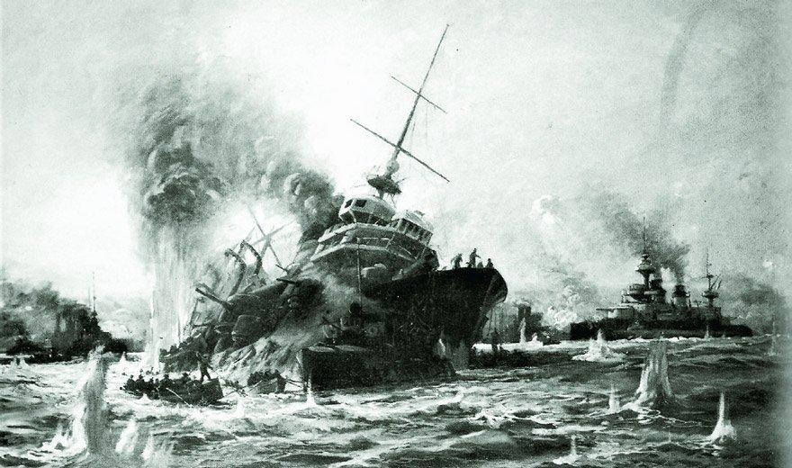 18 Mart Çanakkale Deniz-Boğaz Savaşı'nda İngiliz Franız Müttefik Donanması'nın üç gemisi batırıldı, 4 gemisi ağır hasar aldı.