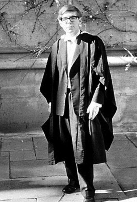 Hawking, ALS'ye yakalanmadan önce öğrencilik günlerinde.