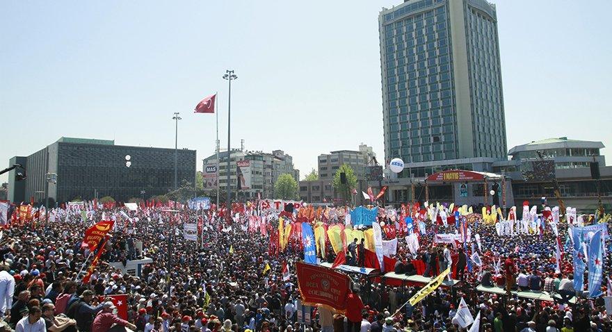 1978 yılındaki 1 Mayıs gösterilerinin ardından 2010,2011 ve 2012 yıllarında Taksim'de 1 Mayıs kutlamaları yapılmıştı. Daha sonra kutlamalar tekrardan yasaklandı. Fotoğraf: Depo Photos