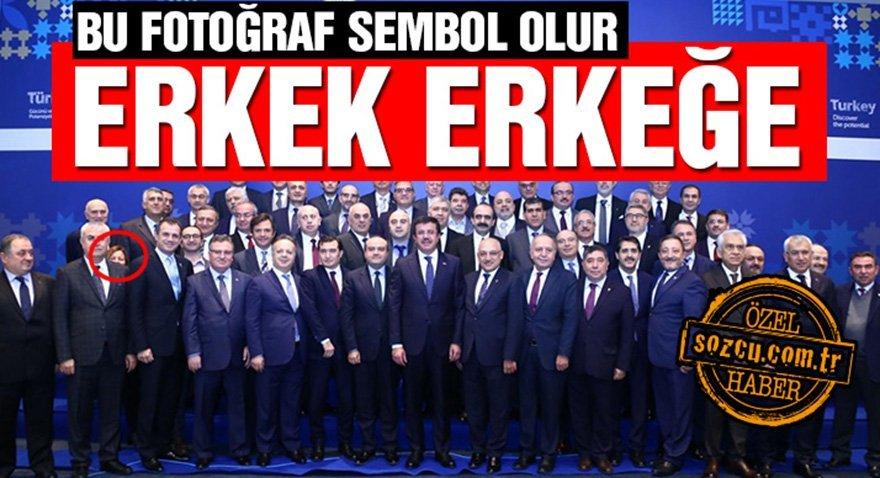 03.01.2018 tarihindeki TİM zirvesinde fotoğrafta yer alan tek kadın Ebru Şapoğlu olmuştu.