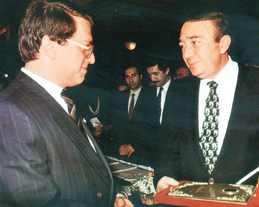Türker İnanoğlu, eski Başbakan Mesut Yılmaz ile birlikte...