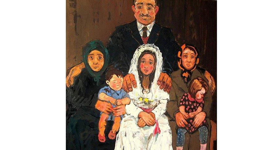 """Tüm karilarini eşit derecede seven demokrat adam ! """" 200 x 160 cm oil on canvas 2011"""
