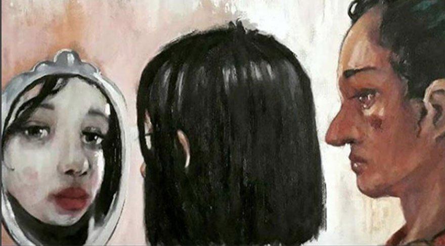 "Saklanan güzellik / Hidden beauty"" 160 x 190 cm oil on canvas 2011 ( detail )"