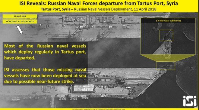 Uydu görüntülerine göre limanda sadece bir denizaltı kaldı.