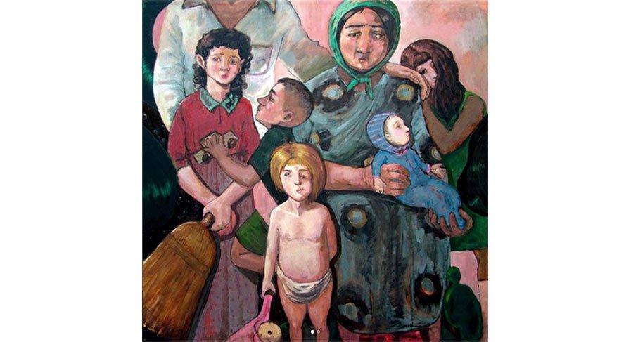 Faili meçhul / Unknown unsolved 150 x 150 cm t.üz y.b / oil on canvas 2010