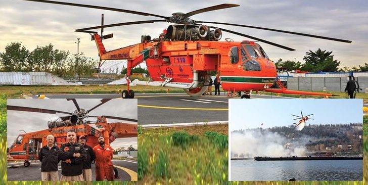 31 Aralık 2017'ye kadar İstanbul itfaiyesi bünyesinde Alev Kartalı isimli helikopter görev yapıyordu. Alev Kartalı birçok yangına müdahalede bulunmuştu.