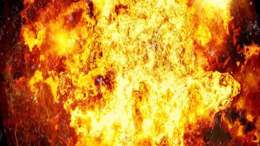 Moskova'da bir AVM'de yangın!