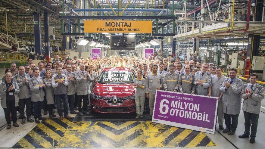 6 milyonuncu Renault banttan indi!