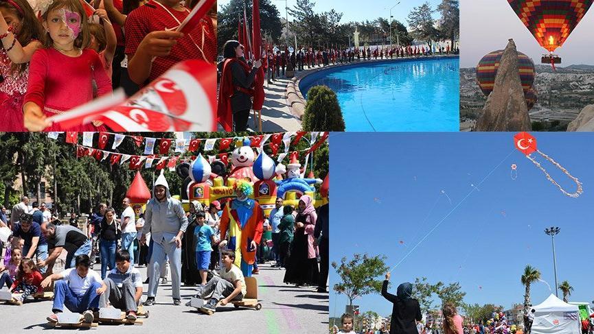 Tüm Türkiye'den 23 Nisan Ulusal Egemenlik ve Çocuk Bayramı kutlamaları