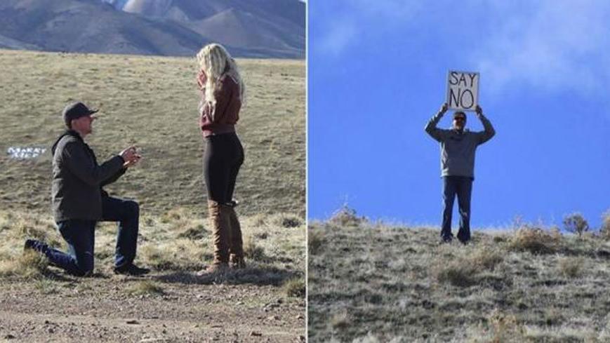 Kızına evlilik teklif edilirken babanın yaptığı hareket ortalığı salladı