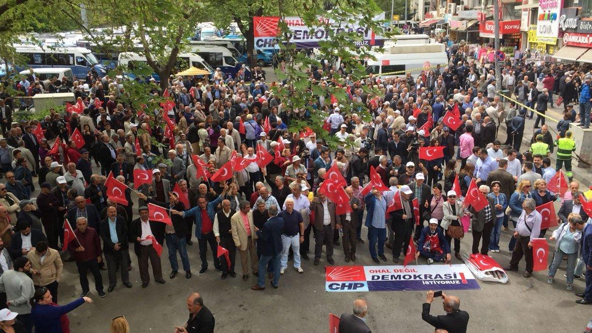 Ankara'da OHAL eylemi