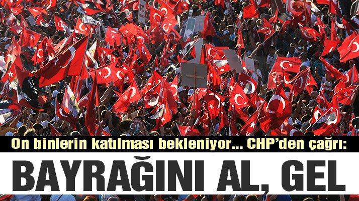 50 bin kişi bekleniyor! CHP'den büyük şeker mitingi