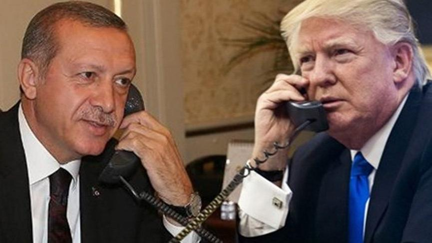Son dakika haberi... Cumhurbaşkanı Erdoğan, Trump ile görüştü