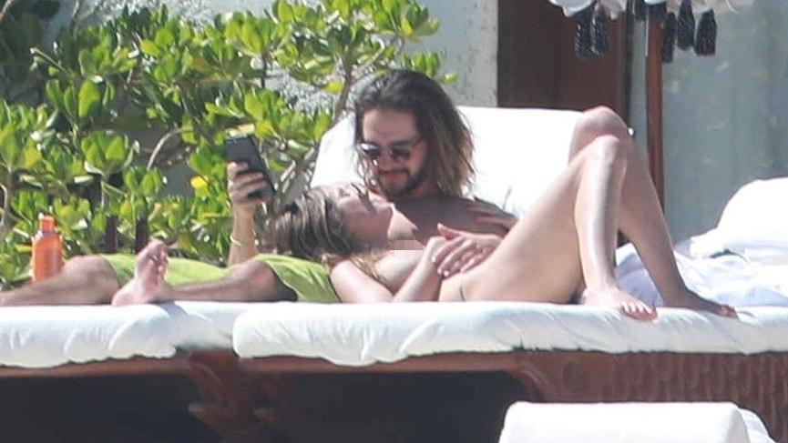 Heidi Klum ve sevgilisinden ateşli görüntüler