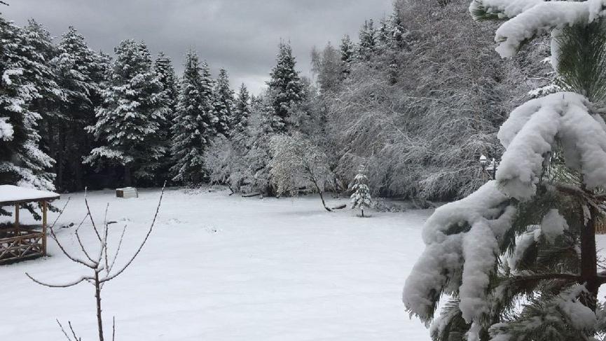 Bahar ortasında kar haberleri! 2 Nisan'da bembeyaz oldu…