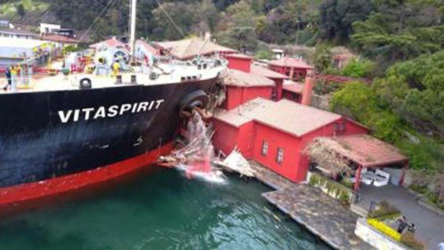 Yalıya çarpan gemi için 50 milyon dolarlık haciz kararı alındı