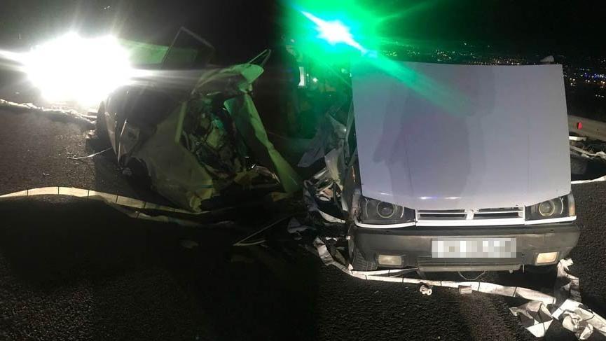 Başkent'te trafik kazası: 1 ölü, 2 yaralı
