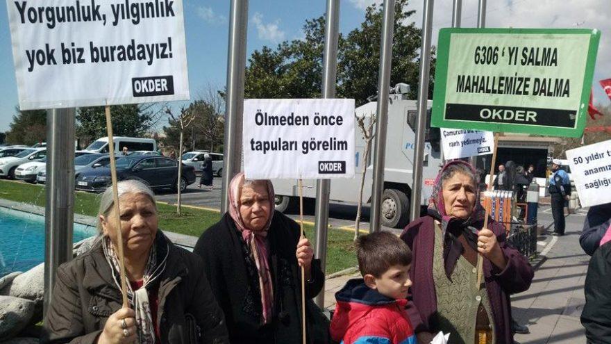 Kentsel dönüşüm mağdurları Ankara'ya gidiyor