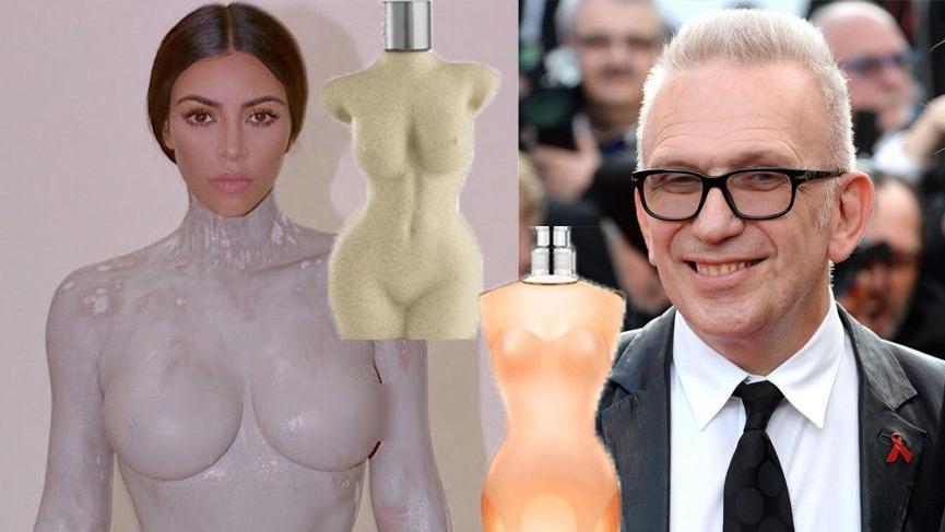 Kim Kardashian, Jean Paul Gaultier parfüm şisesinden mi esinlendi?
