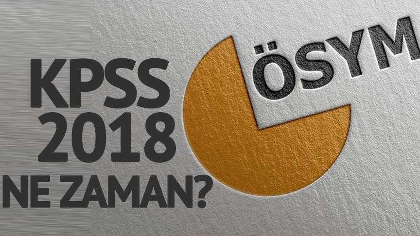 KPSS lisans, önlisans ve lise sınavı başvuruları ne zaman başlayacak? 2018 KPSS tarihleri…