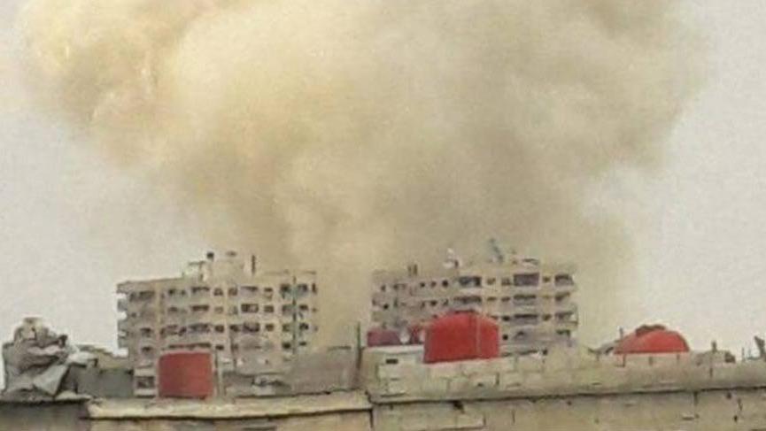 Şam'da büyük patlama! Tüneli havaya uçurdular