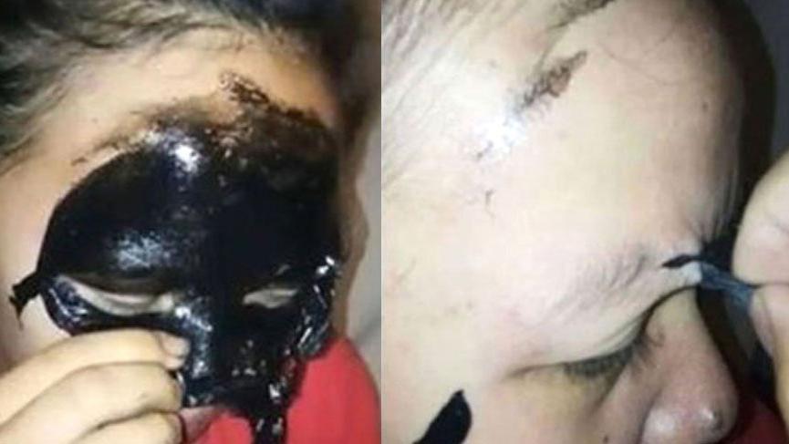 Siyah yüz maskesi sürdü dehşeti yaşadı