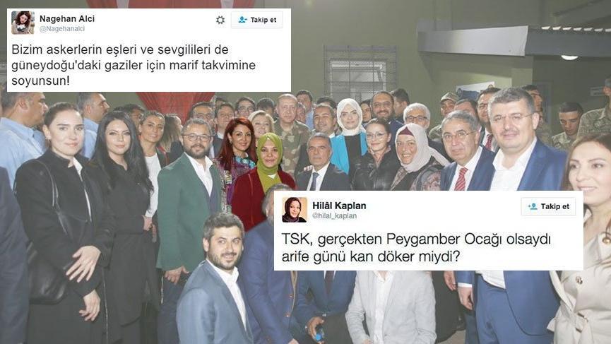 Sosyal medyada Hilal Kaplan ve Nagehan Alçı tepkisi