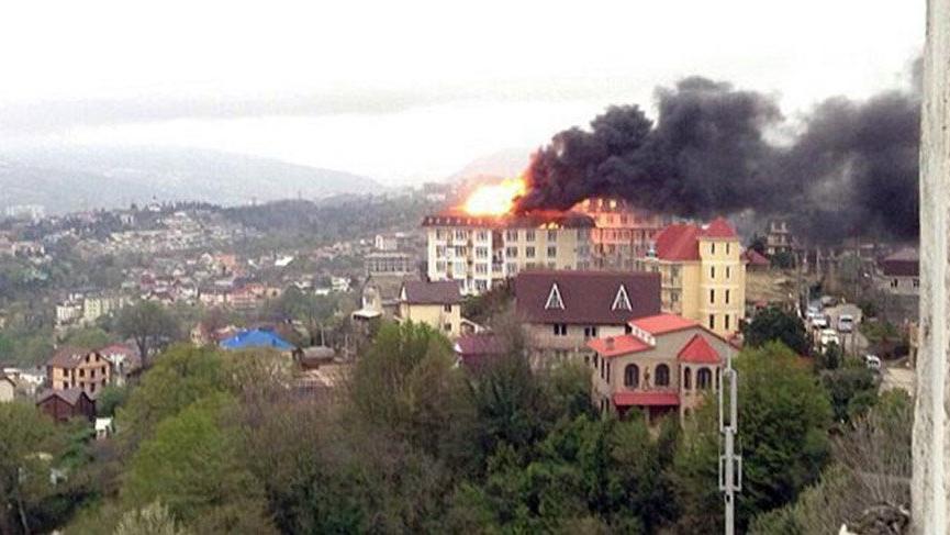 Rusya'da yangın paniği