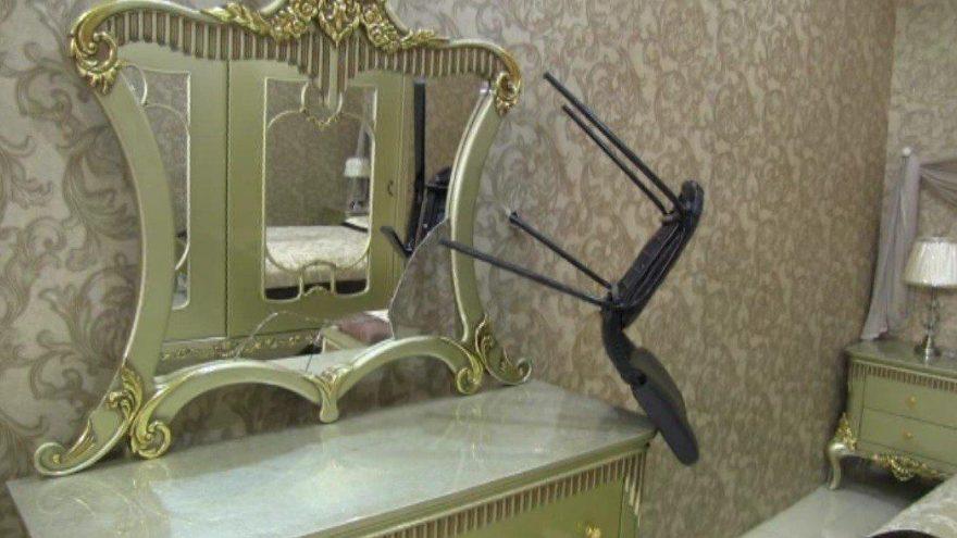 Ortalığı savaş alanına çeviren şahıs sızdığı koltukta gözaltına alındı