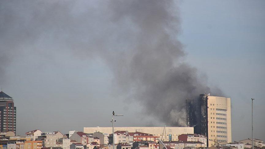 Taksim İlk Yardım Hastanesi'ndeki yangından korkunç kareler