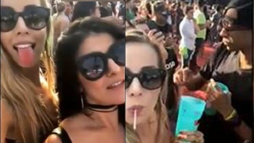 Şoke eden görüntü! Genç kızlar selfie çekerken içeceklerine hap atıldı