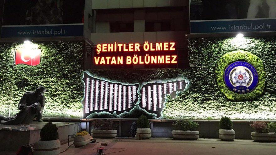 İstanbul'da şehit düşen kahraman polisler için anlamlı çalışma