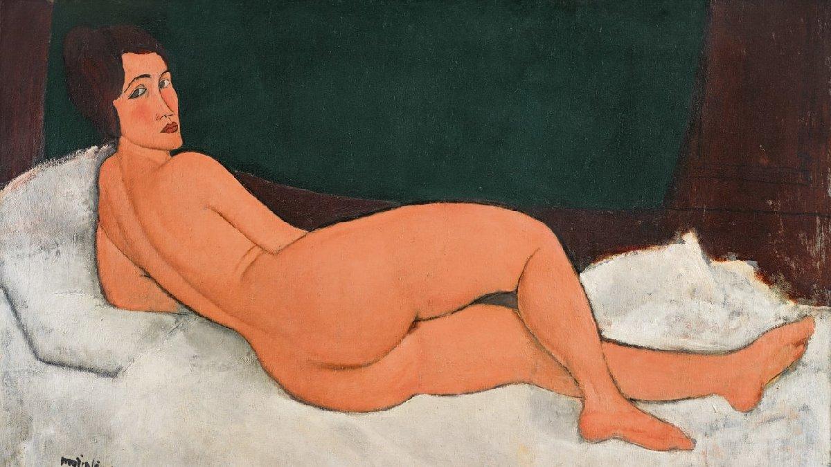 100 yıllık nü tablo açık artırmaya çıkmadan rekor kırdı