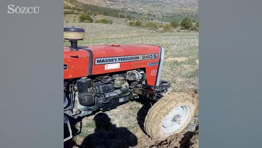 Traktörün deposunu 300 liraya dolduran çiftçi tarlanın ortasında isyan etti