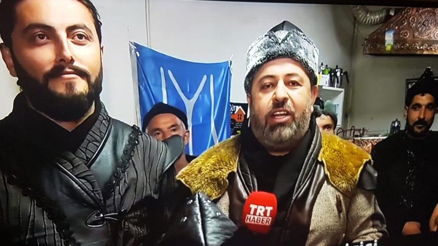 TRT'de ilginç görüntüler