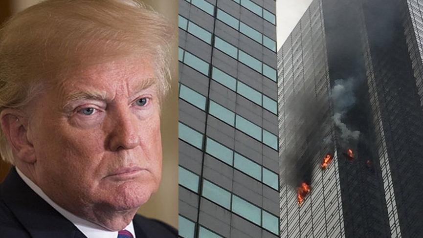 Trump'ın gökdeleninde yangın: Ölü ve yaralılar var