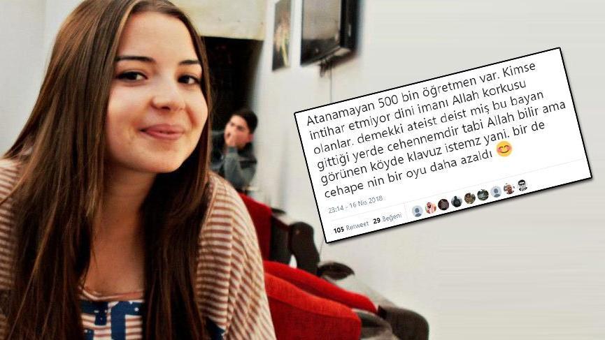 Merve Çavdar'ın intiharı için tepki çeken yorum
