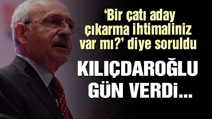 Kılıçdaroğlu: Aday için salı gününü bekleyin