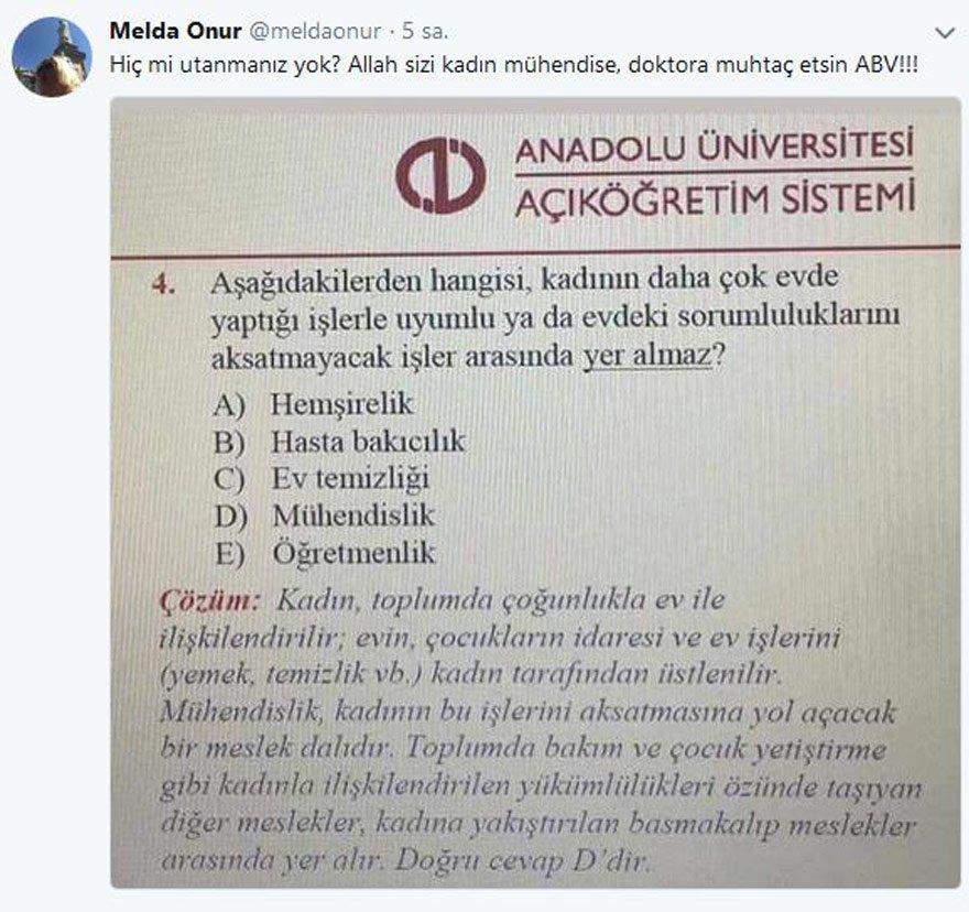 Melda Onur'un Twitter sayfasından alınmıştır.